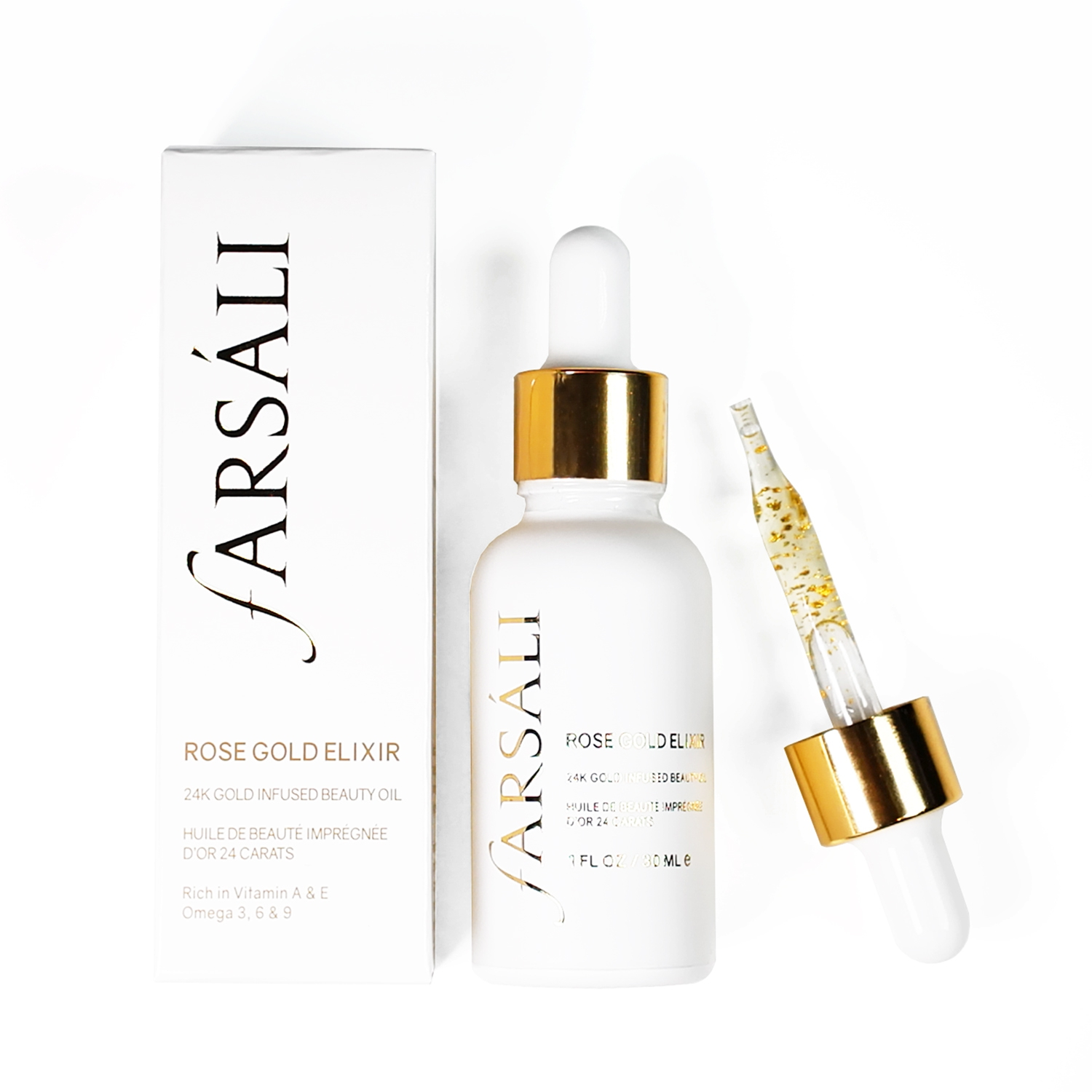 9a2a0031557 Farsali Rose Gold Elixir is a facial oil with tiny particles of 24-karat  gold floating in it. This beauty oil has forever changed my makeup routine  and ...